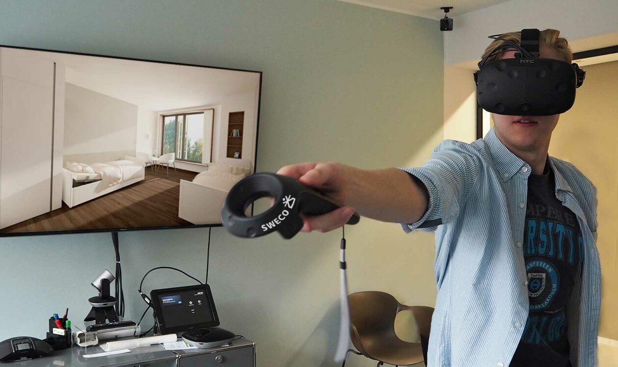 VR-Brille: virtuell begehbare Räume