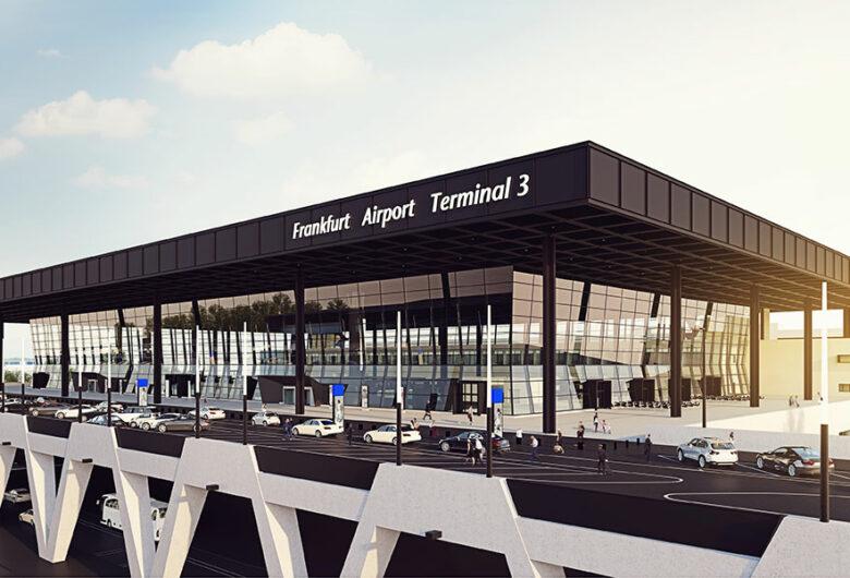 Neubau Terminal 3, Terminalhauptgebäude am Flughafen Frankfurt